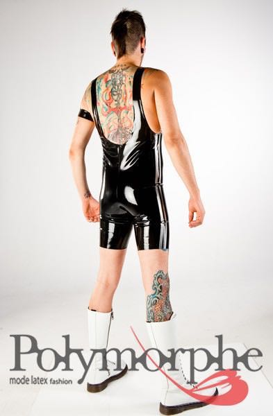 Catsuits, Clothing, Latex, Men- Wrestler Latex Suit With -6796