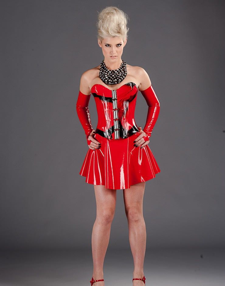 Clothing, Latex, Skirtsshorts, Women- Latex A-Line Skirt -5399