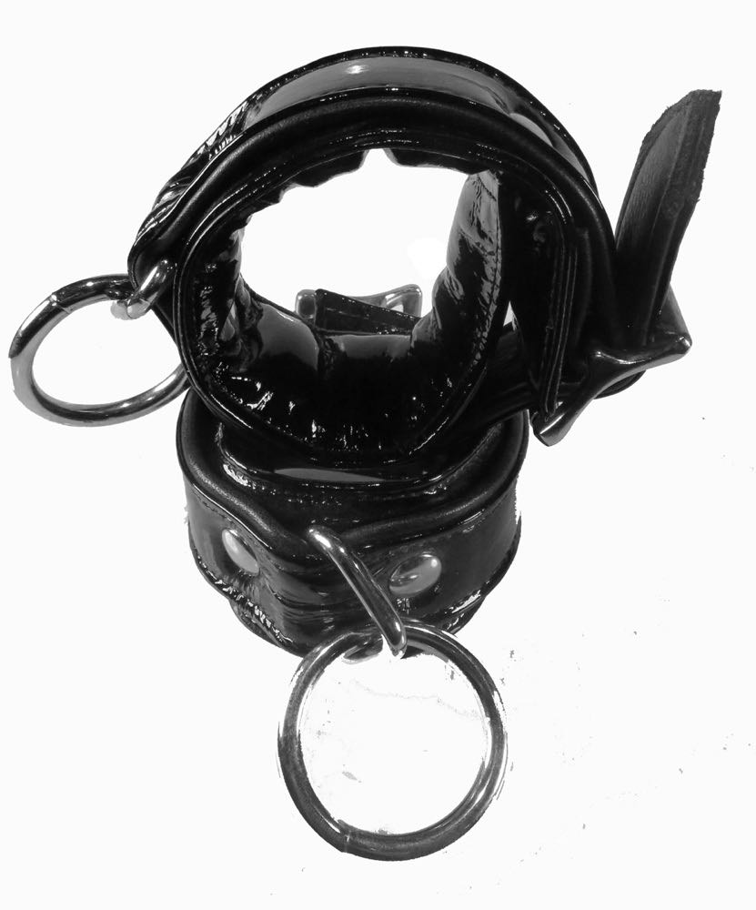 Patent leather bdsm cuffs