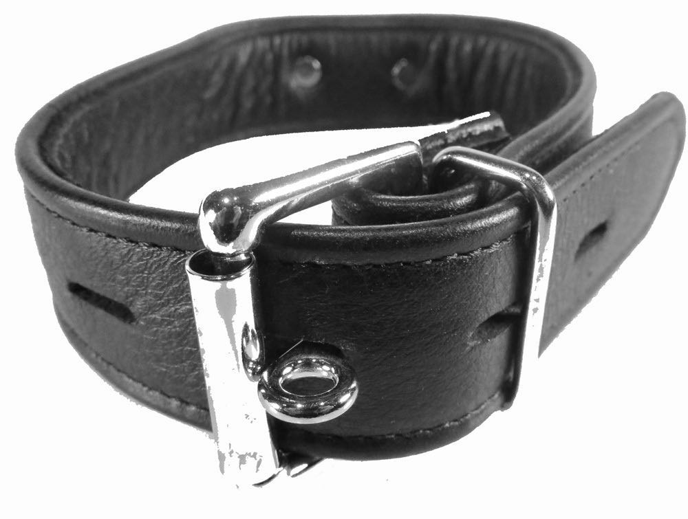 Bdsm, Collarsleashes- Black Leather Collar Med O-ring-6953