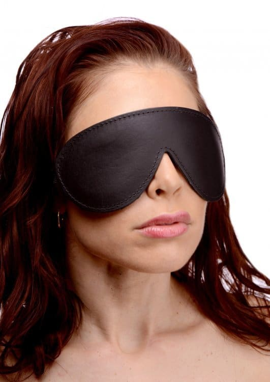 Bdsm, Blindfolds, Bondage- Strict Leather Padded Blindfold -8024