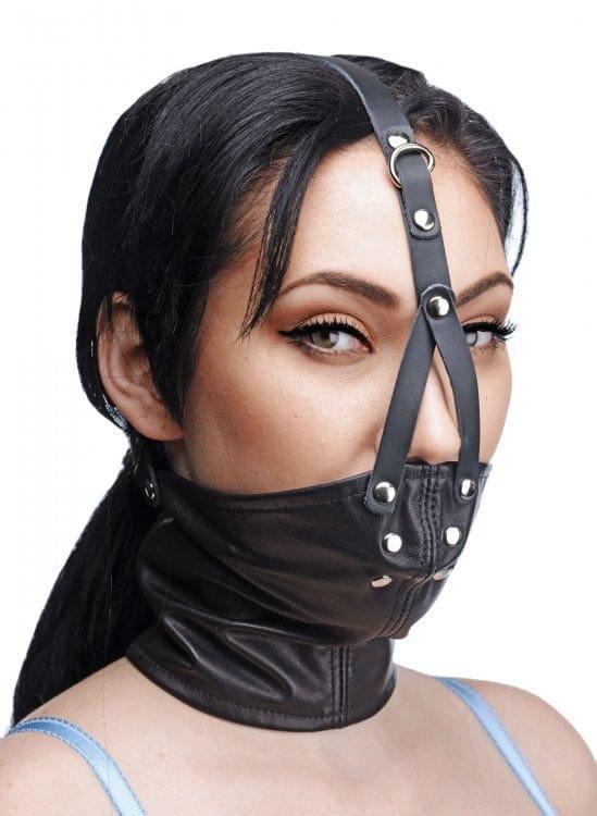 Bdsm Bondage Gags Head Harnesses Leather Neck Corset